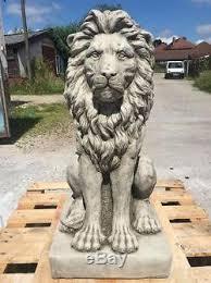lion statue exrta large posing lion statue garden ornament fibreglass