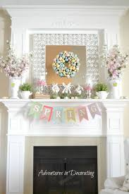 best easter decorations 60 best mantels images on fireplace mantels easter