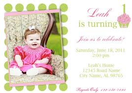 Birthday Invitation Card Sample Printable Adorable Baby Birthday Celebration And Invitation Card Sample With