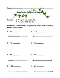 there are 8 rounding worksheets in this product and some