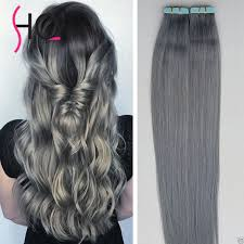 grey hair extensions grey hair extensions in hair extensions gray 100g set