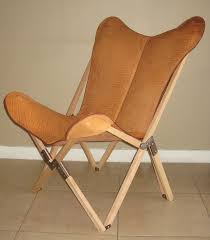 Butterfly Chair Cover Tripo Butterfly Chair In Buffalo Leather And Wood Frame