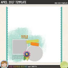 free digital scrapbooking template april challenge kate