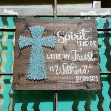 cross home decor spirit lead me sign string art cross and scripture christian