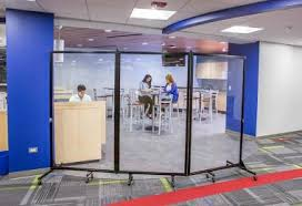 Rolling Room Dividers by See Through Walls Translucent Wall Panels Screenflex
