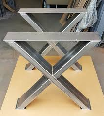 X Leg Dining Table Sturdy Modern Dining Table X Legs Heavy Duty Metal By Dvametal