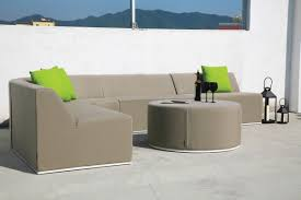 Curved Modular Outdoor Seating by Dune Modular Lounge Furniture In Sunbrella Fabric Outdoorsofa