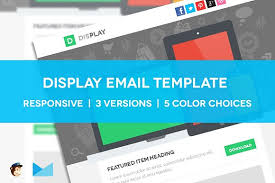 display responsive email template website templates creative