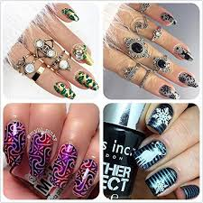 ejiubas 2 counts double sided new design nail art stamping kit