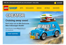 Free Exclusive Lego Creater Mini Volkswagen Beetle With Any