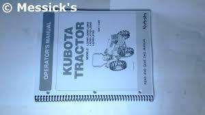 kubota l series kubota owners manuals