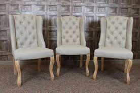 winged upholstered dining chairs french style