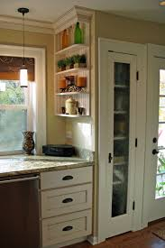 Kitchen Pantry Doors Ideas Kitchen Top Notch Small Kitchen Decoration Using White Wood Glass