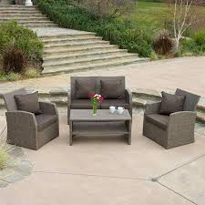shop best selling home decor sanger 4 piece wicker patio