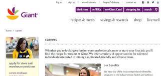 giant food stores application online form u0026 job interview