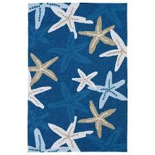 7 X 9 Outdoor Rug 7 X 9 Large Starfish Blue Indoor Outdoor Rug Matira Rc Willey