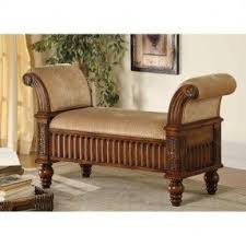 Padded Storage Bench Upholstered Storage Bench With Arms Foter