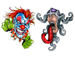laughing wicked clown tattoo design real photo pictures images