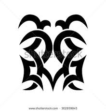 vector tribal tattoo heart stock vector 2264210 shutterstock
