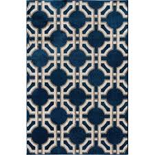 8 X 10 Outdoor Rug 8 X 10 Large Sapphire Blue White Indoor Outdoor Rug Terrace