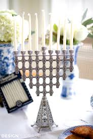 hanukkah party decorations using blue and white chinoiserie for hanukkah decorations