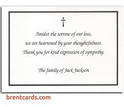 funeral thank you notes thank you notes for bereavement cards beautiful thank you card