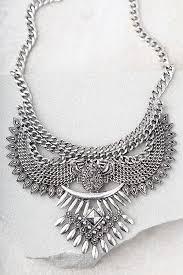 boho statement necklace images Boho silver necklace statement necklace 29 00 jpg