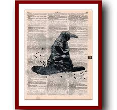 harry potter poster 6 sorting hat poster giclee wall