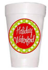 holiday waterford christmas styrofoam cups christmas cups holiday