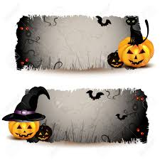 1 374 horizontal halloween background stock vector illustration