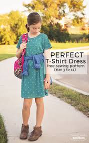 perfect t shirt dress pattern and tutorial free pdf sewing