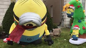 Holiday Blow Up Decorations Minions Inflatable Gemmy Airblown Christmas Decoration Youtube