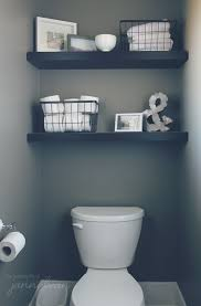 Small Bathroom Shelving Ideas Colors Our House The Powder Room Powder Room Room And House