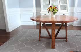 Diy Round End Table by Round Trestle Dining Table Free Diy Plans Rogue Engineer