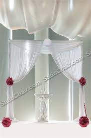 wedding arches chicago linens chiavari chairs wall draping led lighting ceremony decor