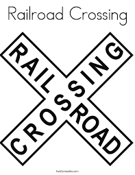Railroad Crossing Coloring Page Twisty Noodle Rail Color Page
