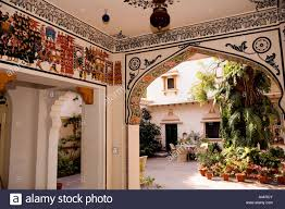 Home Design Rajasthani Style India Rajasthan Kota Palkiya Haveli Traditionally Decorated Home