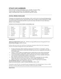 Campaign Manager Resume Sample by 22 Social Media Manager Resume Samples Vinodomia