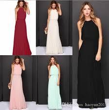 2016 fashion women long maxi dress summer style chiffon pleated