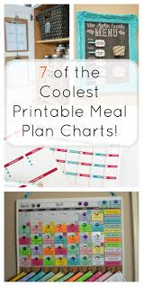 organized home printable menu planner 7 printable meal plan charts for easy dinner ideas the organized mom