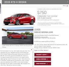 cadillac ats offers cadillac s amazing 2016 ats v sedan lease offer gm authority