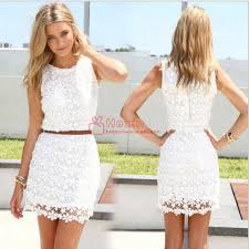 casual summer dresses women summer dress white lace sleeveless casual summer