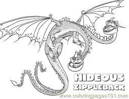 zippleback coloring free train dragon coloring