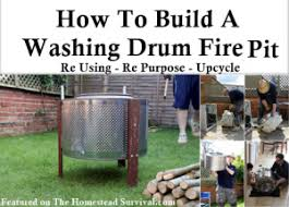 Washing Machine Firepit How To Build A Washing Drum Pit The Homestead Survival