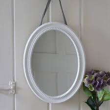top bathroom oval white beaded wall mirror wakefield house