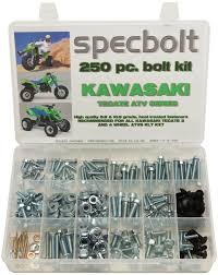 250pc bolt kit kawasaki tecate kxf250 kxt 250 body plastics frame