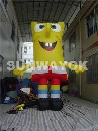 Outdoor Inflatables Pvc Spongebob Inflatables Outdoor