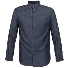 matinique clothing store trostol check dark navy shirt