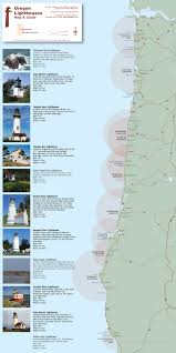 Oregon Beaches Map by Oregon Lighthouses