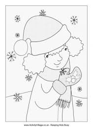 winter colouring pages for kids